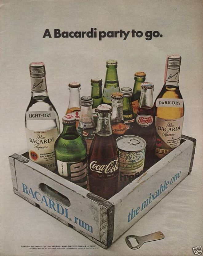 Coca-cola and Bacardi Rum (1972)