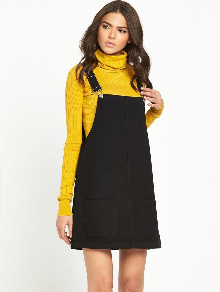 Dungaree Dress - Black, http://www.very.co.uk/glamorous-dungaree-dress-black/1600122110.prd
