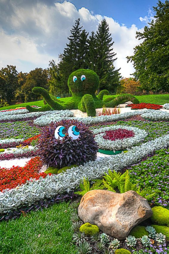 Between a Rock and an Octopus - Seen at the Kiev Flower Show, 2013 - mattcreate.com: