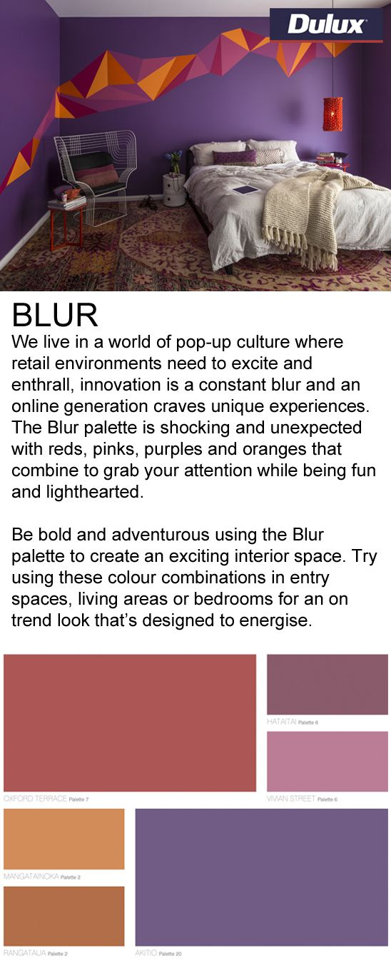 Find BLUR inspired fabrics at Lahood.   www.lahood.co.nz