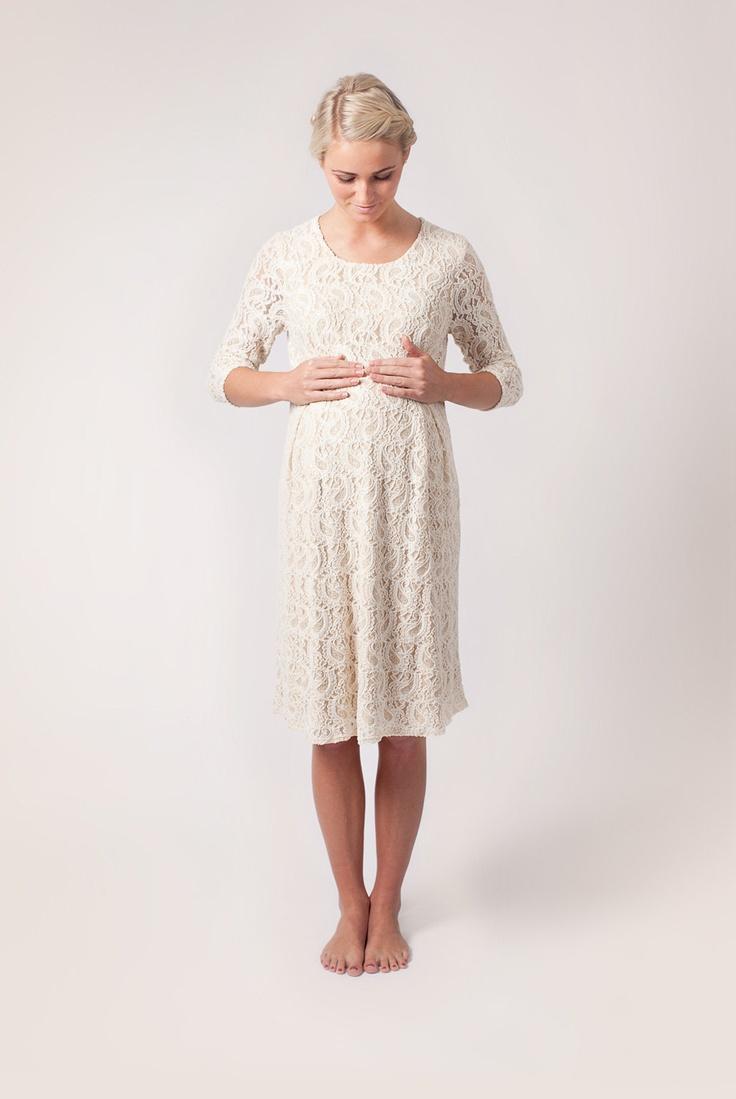 Cream Maternity Romance Dress. €109.00, via Etsy.