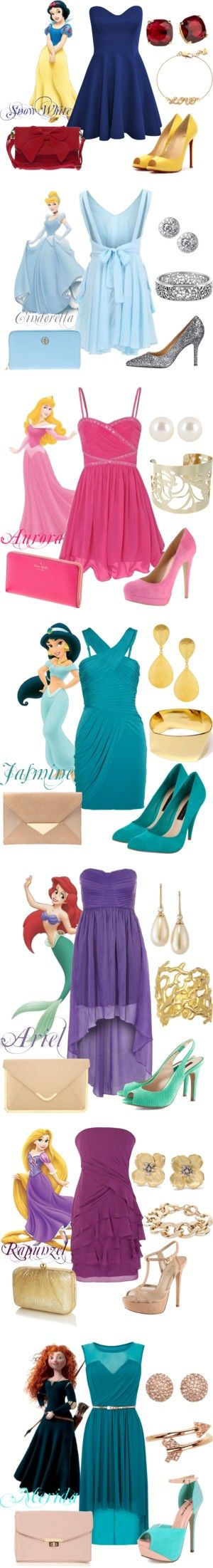 """""""Disney Princess Prom Outfits"""" by natihasi on Polyvore"""