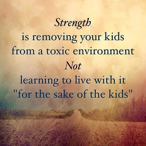 For the sake of the kids, is not a sign of strength