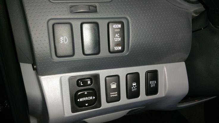 Garage door opener switch mod in Tacoma