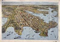 The city of Sydney (a bird's eye view), 1888