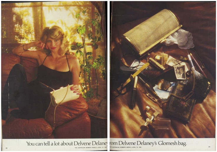 You can tell a lot about Delvene Delaney from Delvene Delaney's Glomesh bag... #DelveneDelaney #Glomesh
