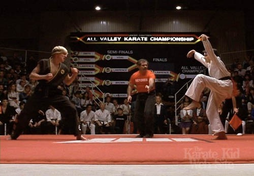 Karate Kid... and practicing the crane kick for a month after watching the movie childhood-memories
