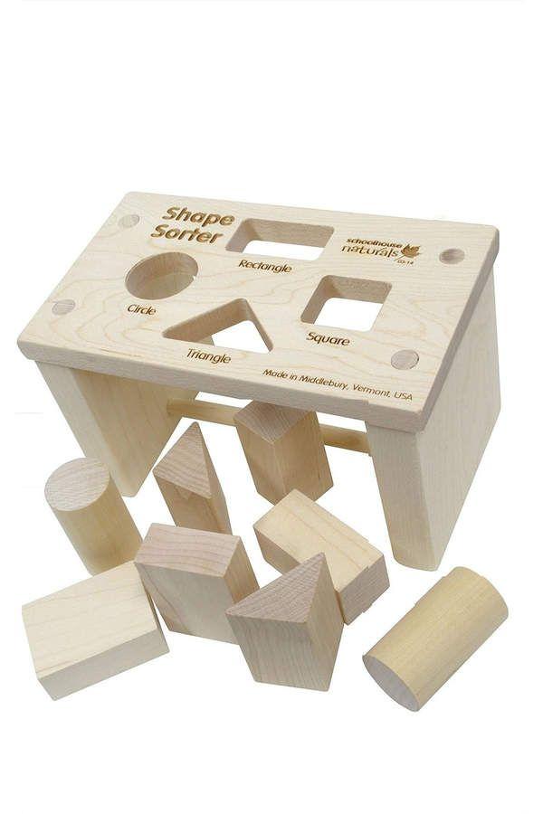 Maple + Mauve Shape Sorter Bench