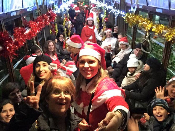 che #festa il #natale con Spazio Aries ! sul #tram di Santa Claus!