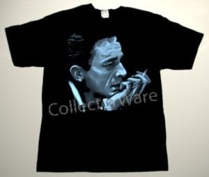 JOHNNY CASH drawing 18 CUSTOM ART UNIQUE T-SHIRT   Each T-shirt is individually hand-painted, a true and unique work of art indeed!  To order this, or design your own custom T-shirt, please contact us at info@collectorware.com, or visit  http://www.collectorware.com/tees-johnny_cash.htm