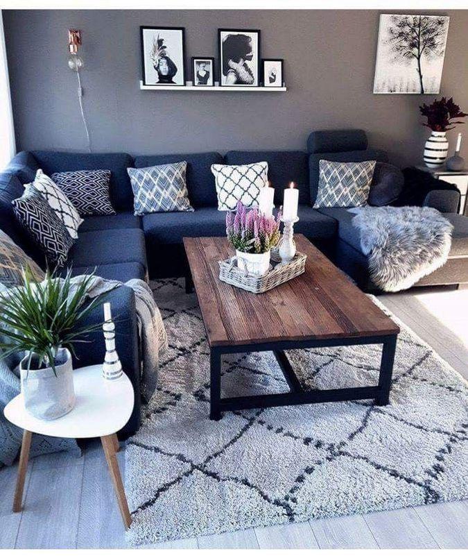 60+ gemütliche kleine Wohnzimmer Dekor Ideen für Ihre Wohnung
