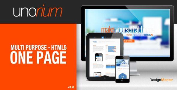 Unorium - One Page HTML Theme