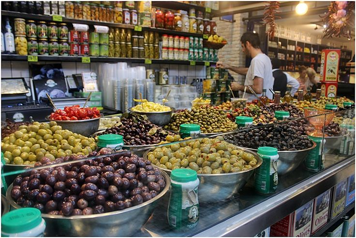 Olives in Sarona Market
