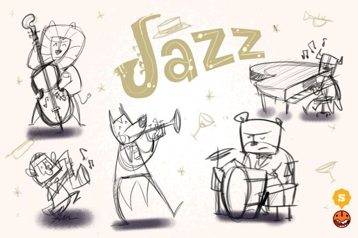 Jazz Concept - from sketch to design