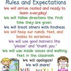 Display this First Grade Rules and Expectation chart in your classroom to show your students what behavior is expected of them throughout the year....