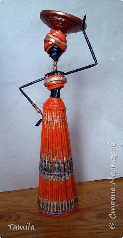 Куклы Моделирование конструирование Девушка-африканка +как я её делала Трубочки бумажные фото 1
