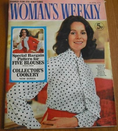 70s Woman's Weekly magazine - 7th April 1973 - cost 5p!!