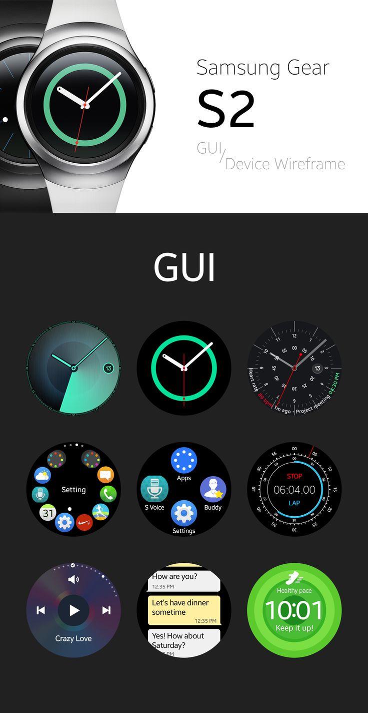 Samsung Gear S2 GUI & Device Wireframe (Free PSD) on Behance