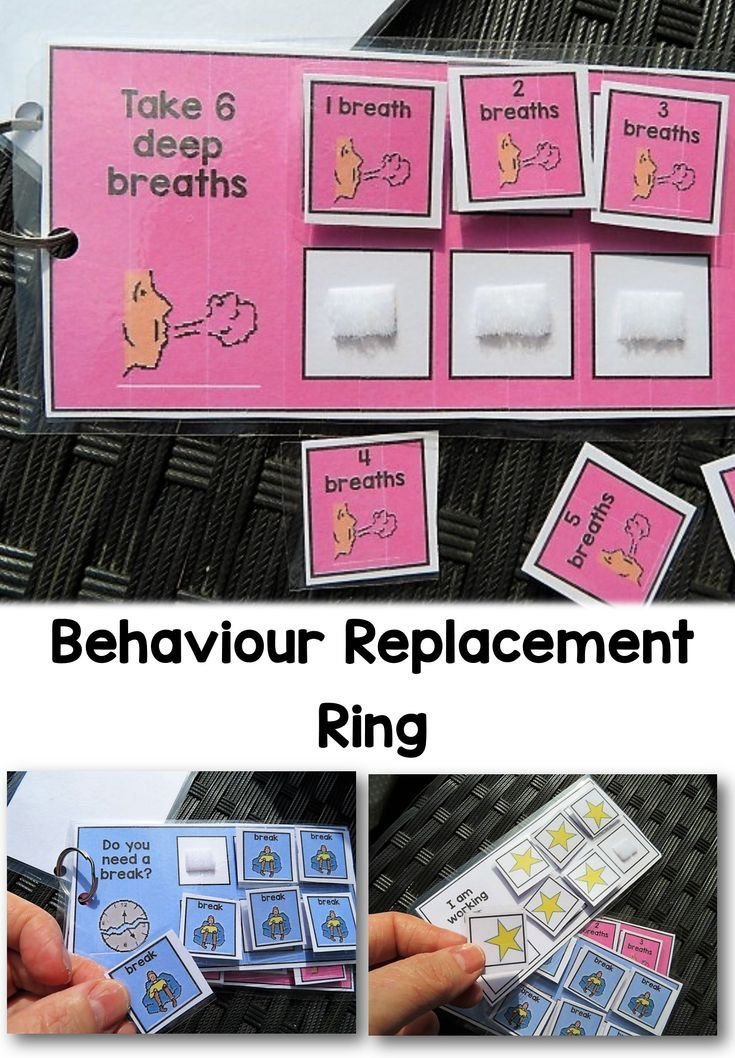 I set 3 of my favourite behaviour supports on a ring, making them more handy and easy to use.