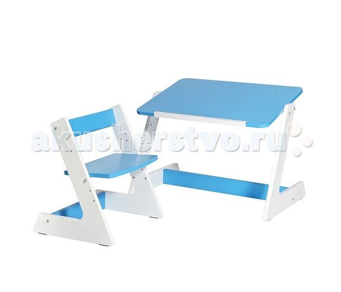 Астек Комплект Пиноккио (стол и стул)  Астек Комплект Пиноккио (стол и стул) предназначен для детей ростом от 85 до 120 см. Стол покрыт специальным не токсичным лаком, проверен, сертифицирован и абсолютно безопасен для малышей.  Столешница устанавливается в горизонтальном или наклонном положении для обеспечения максимально комфортного и здорового положения при учебе. Удобная выдвижная планка поможет удерживать различные предметы, книжки, альбомы для рисования.  Особенности: Регулируемый угол…