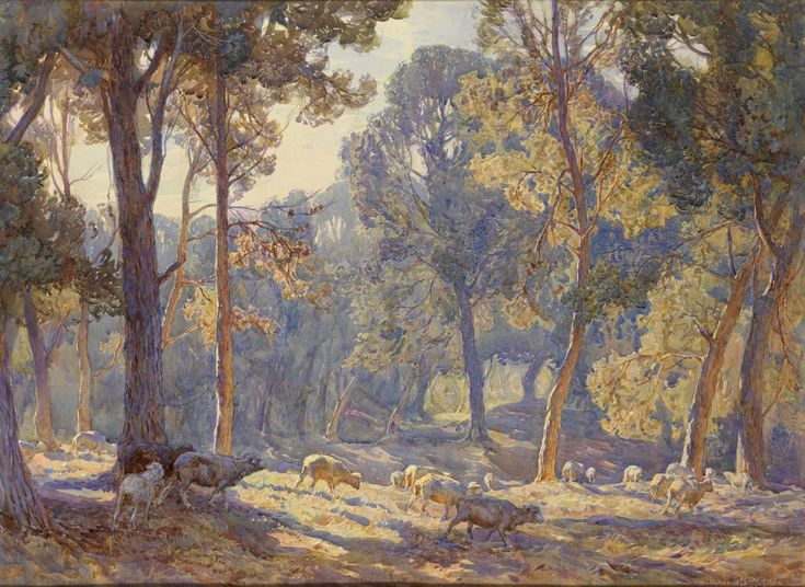Midsummer morning - Hans Heysen