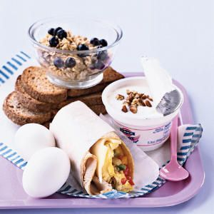 12 Smart Ideas for Breakfast On the Go via Cooking Light -- I love the wraps and Greek Yogurt #healthy #fitness