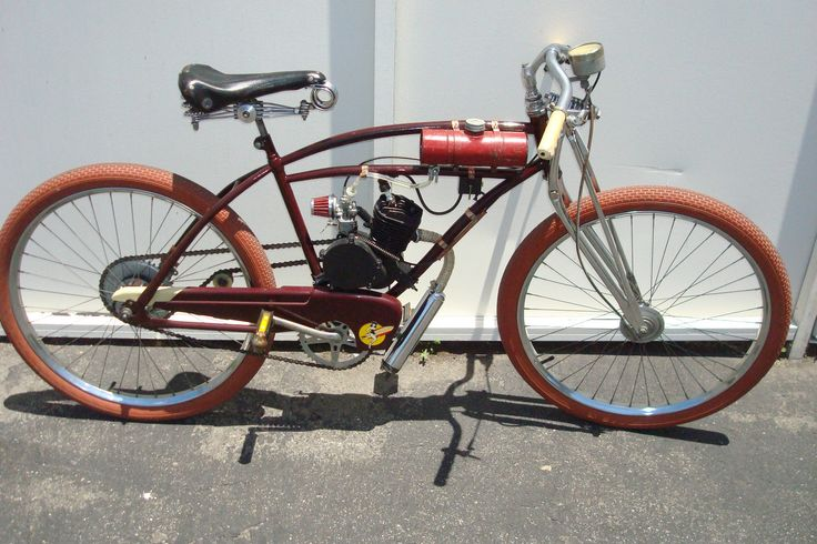Motorized Bicycle Bike Vtg Gas Powered Bicycle Jc