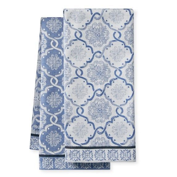 Porto Tile Jacquard Towels Set Of 2 Cheap Living Room Sets