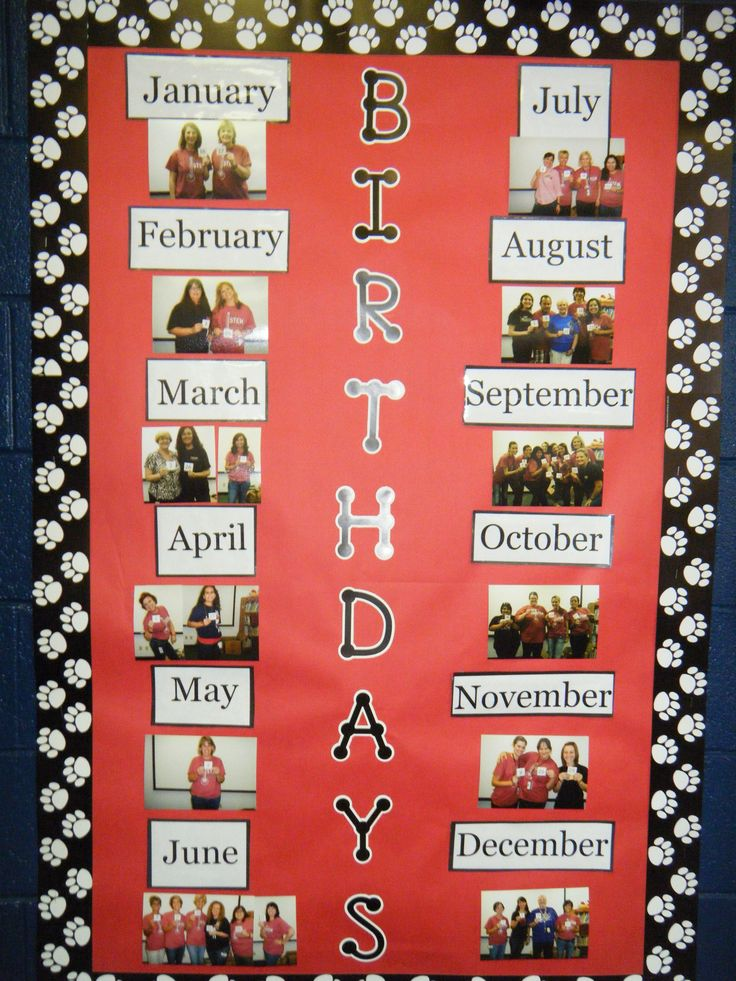 Great way to recognize staff birthdays!