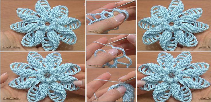 Crochet Folded Petal Flower