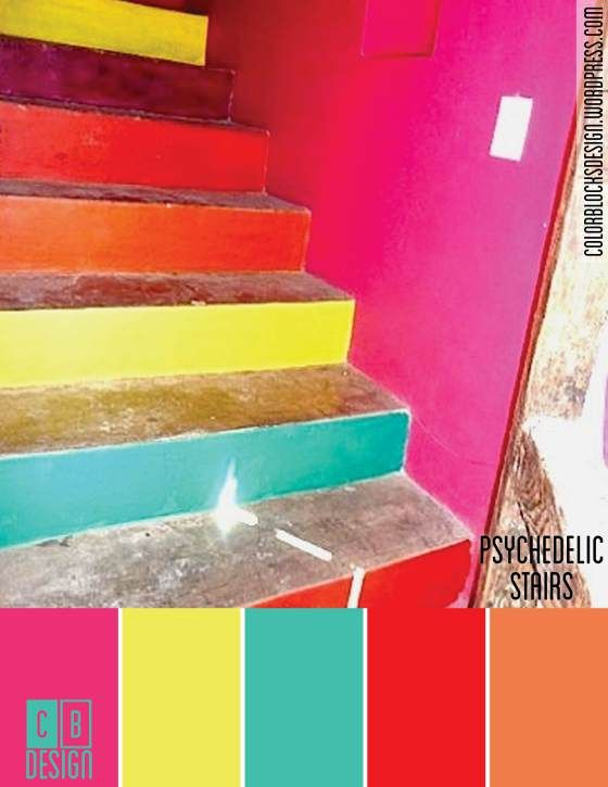 Psychedelic Stairs | Color Blocks Design 6.14.12
