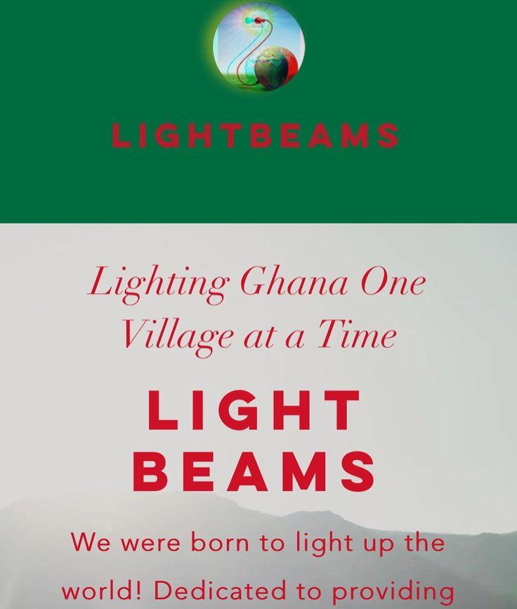 """We are a group of lightworkers dedicated to providing solar energy to Ghana West Africa. One of Ghanas paramount constraints to economic growth is its unreliable and inadequate supply of electric power. We must be able to find affordable ways to provide electricity to power the economy and provide jobs for the millions of unemployed and under-employed youth. """"For many of the poor and most vulnerable citizens in Ghana [the] chronic power shortage is not merely an inconvenience; it is…"""