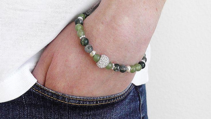 Armbänder - Armband aus Aventurin & Moosachat  - ein Designerstück von CS_Kreationen bei DaWanda