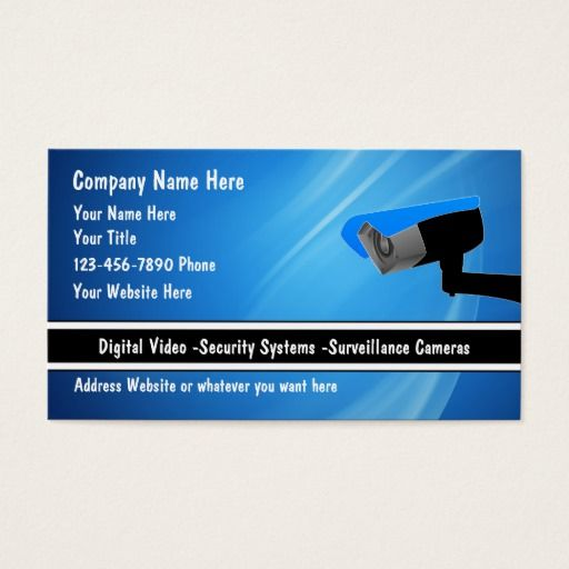 189 best security business cards images on pinterest for Cctv business card