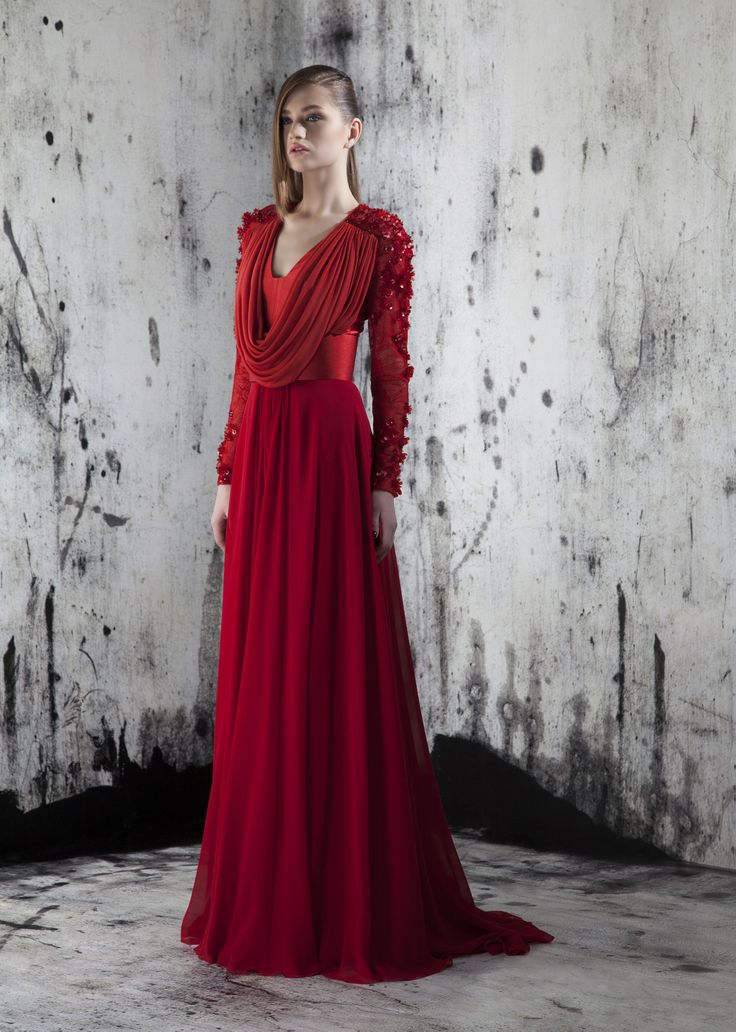Red evening gown charming fashion occasional dresses