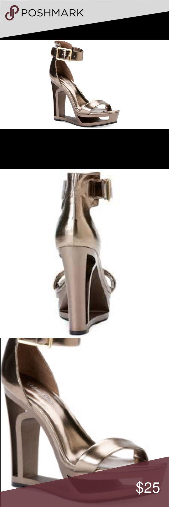 Calvin Klein Platform Sandal-Bronze