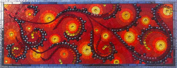 Lava Pool Floor  by mosaic artist Dyanne Williams
