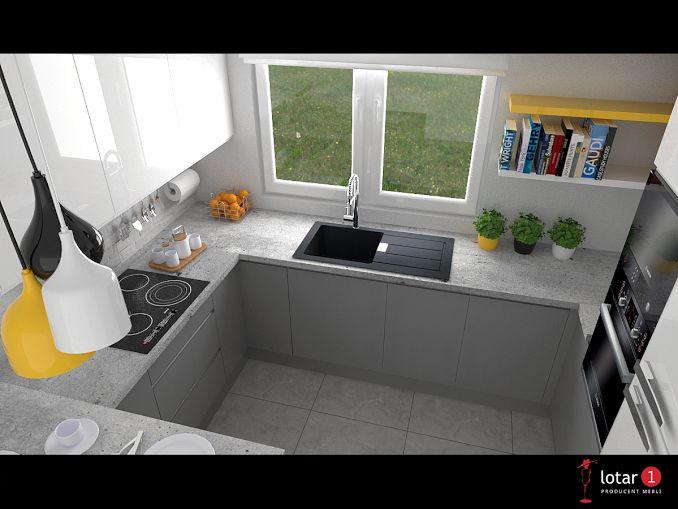 Meble kuchenne / Kitchen furniture design / Aneks kuchenny z barkiem.