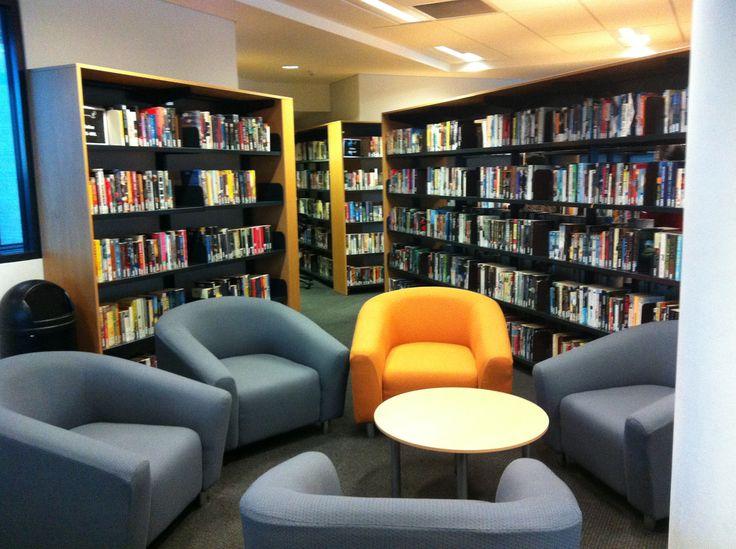 Wide Reading Area - big comfy seats amongst the shelves - Newington College