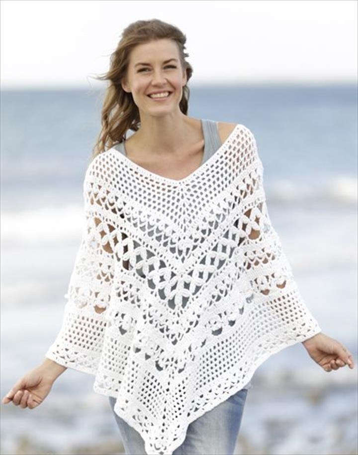 24 Adorable Summer Poncho Free Crochet Design   DIY to Make