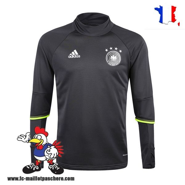 Promo Nouveau Homme Sweatshirt Training Allemagne Noir Saison 16 17 Thailande