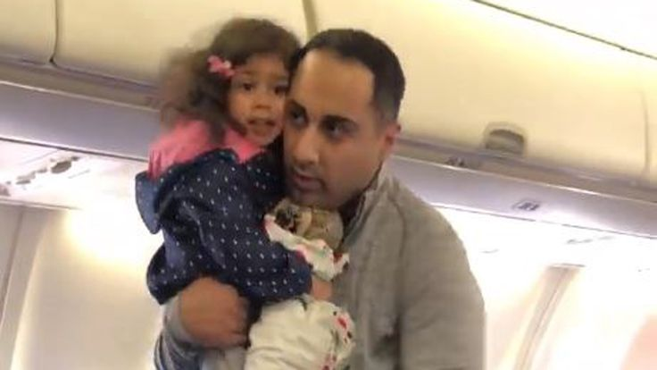Dad and toddler kicked off flight after two-year-old became distressed over seat