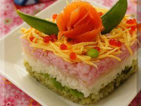 * 桃の節句 ❤ 菱餅風雛寿司・ひな祭りちらし寿司♪