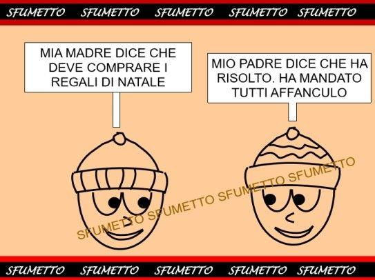Tempo di regali per Natale  http://www.sfumetto.net/barzellette-di-pierino-12.html  #barzellette #vignette  #ridere #umorismo #battute #freddure  #battutepessime  #risate #cazzate #ahah #barzellettedivertenti #cheridere #allegria #felicità #fumetti #webcomic #stronzate #ahahah #pierino #natale #regali #vaffanculo
