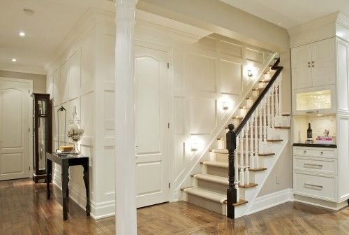 Like the millwork and lighting to open up the space