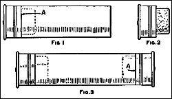 Una caja que puede usarse para sostener anzuelos, fósforos o cualquier artículo pequeño, puede hacerse de dos cartuchos vacíos de escopeta . Estos cartuchos generalmente están construidos de un cartón duro, Fig. 1. El segundo cartucho cortelo a la altura del latón, Fig. 2, y en la parte del latón, introduzca un trozo de corcho el que se utilizará como tapón o cierre, Fig. 3. Cubriendo la caja con laca mejorará su apariencia.