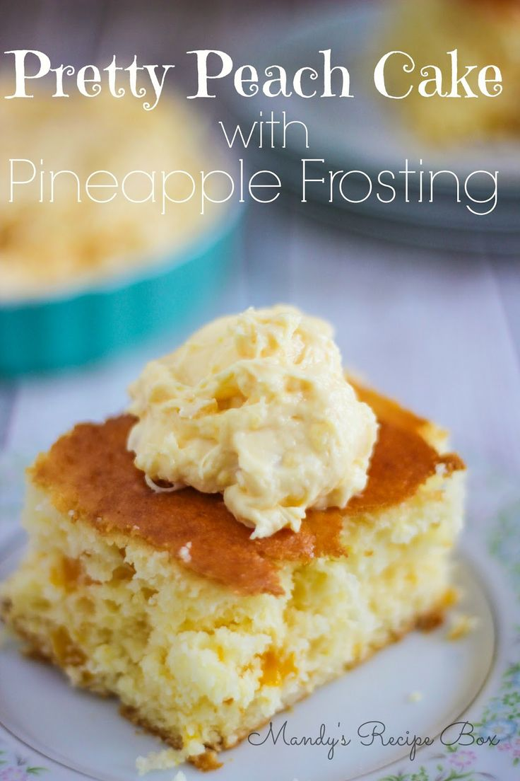 Pretty Peach Cake with Pineapple Frosting | Mandy's Recipe Box