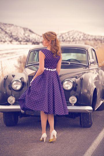 Fabulous dress, fabulous photo:: Pretty in Polka Dots:: vintage fashion:: retro style