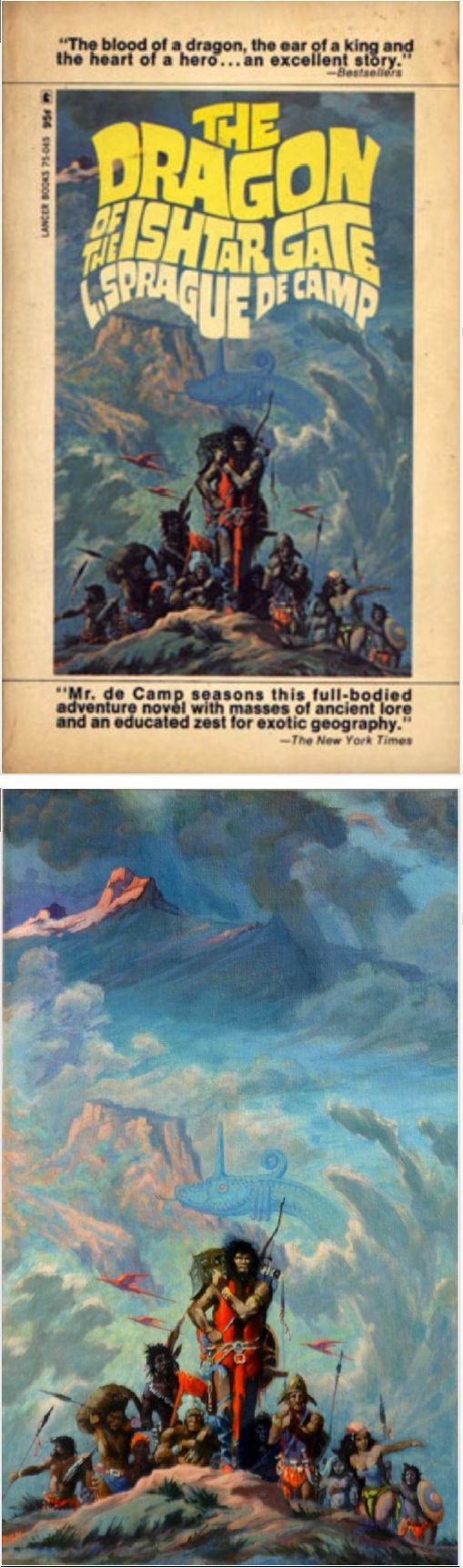 ROY G. KRENKEL JR  - The Dragon of the Ishtar Gate by L. Sprague de Camp - 1968 Lancer Books - cover by isfdb