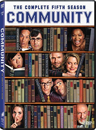 Community: Season 5 - DVD 'Bear Down' for the most jaw-dropping, polygraph-taking, hot lava-walking, ass-crack-bandit-pursuing, fantasy-roleplay-gaming, animated 'G.I. Jeff'-hallucinating, hidden treasure-hunting, college campus-saving season that gets a rating of five MeowMeowBeenz!